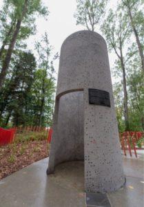 Column Curved Memorial Plaque