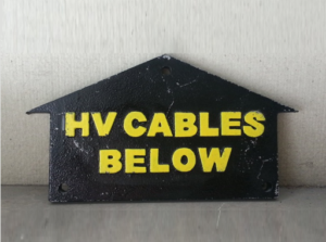 HV Cables Sign